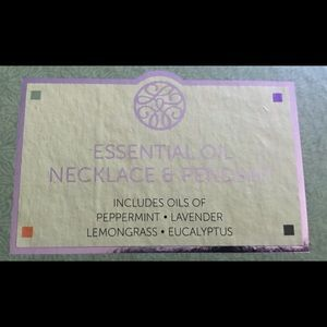 None Other - New In Box Essential Oil Necklace Pendant Lavendar